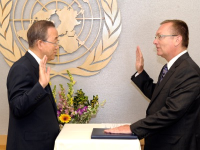 Swearing-in Ceremony: - Mr. Jeffrey Feltman  (USG, DPA)