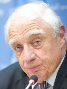 noon guest Mr. Peter Sutherland, Special Representative of the Secretary-General for International Migration