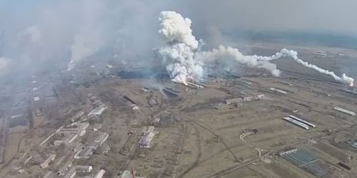 Bild oben: The moment of detonation Explosion Balakleya at the plant of ammunition Kharkov, Ukraine March 23 Die radioaktive Wolke […]